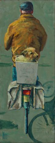 Man met hondje © Theo Onnes